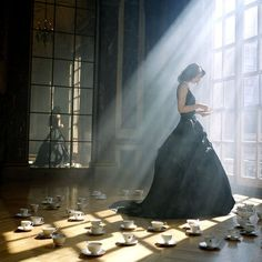 photographer: Rodney Smith  black dress and tea // via caremine:fuckyeahdresses: (via midnightlunacy)