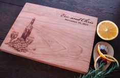 Personalized Cheese Board with Wine Bottle Design Bestman Present Bridal Shower Gift for Him Father's Day Present Host Hostess Gift