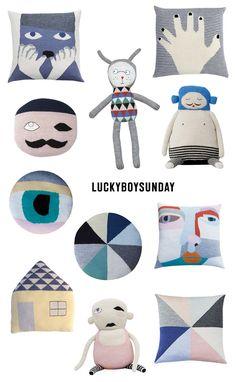 Pletené polštářky Lucky Boy Sunday #cushion #cushions #pillow #pillows #knit #luckyboysunday