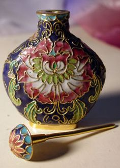 Vintage Chinese Cloisonne Bottle