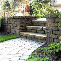 diy retaining wall instructions l the stairs and walkway in the middle of this retaining wall make it really sharp
