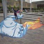 Pavement Chalk drawing