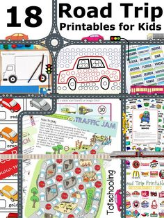 18 Road Trip Printables for Traveling with Kids (Love to Learn Linky #44)