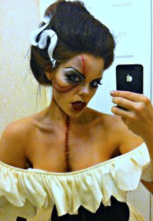 The Strength of a Flame: Bride of Frankenstein Halloween Tutorial