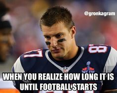 Don't worry Gronk, we can watch baseball, basketball and .... sigh, it's 6 llooonngg months .... #PatriotsNation