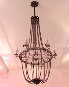 Bicycle chandelier -wheel and chains+
