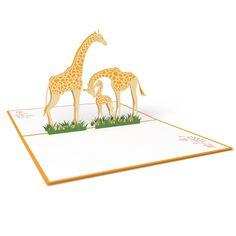 Giraffe pop up card - thumbnail