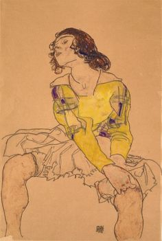 Egon Schiele, Woman With Yellow Blouse, 1918