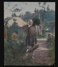 Antique Japanese hand colored photograph of a Farmer in Native Dress with crops in Collectibles, Photographic Images, Vintage & Antique (Pre-1940), Other Antique Photographs | eBay