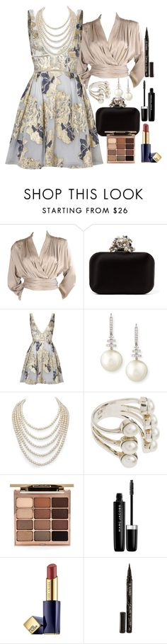 """""""Untitled #184"""" by aryasally ❤ liked on Polyvore featuring Yves Saint Laurent, Jimmy Choo, Notte by Marchesa, Belpearl, DaVonna, Stila, Marc Jacobs, Estée Lauder and Smith & Cult"""