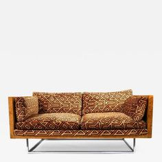 Milo Baughman - Milo Baughman Burl Wood & Chrome Loveseat offered by Dallas Moderne on InCollect Milo Baughman, Love Seat, Chrome, Couch, Interior Design, Wood, 1970s, Furniture, Home Decor