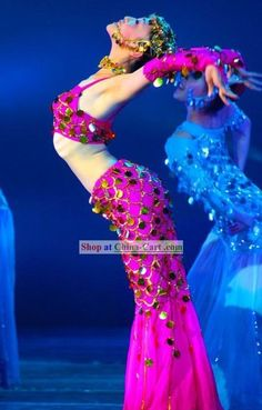 Chinese Traditional Dai Minority Fish Dance Mermaid Costumes