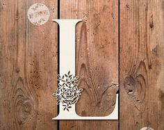40% SALE Floral Letter 'L' SVG Pdf Design - Papercutting Vinyl Template Commercial Use - Papercut - nursery papercut - new baby papercut