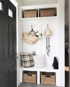 Our small but mighty mud room house ideas en 2019 mudroom, entryway closet Small Mudroom Ideas, Kitchen Entryway Ideas, Small Entryway Decor, Front Room Decor, Decor Room, Ikea Kitchen, Entryway Closet, Entryway Storage, Mudroom In Closet