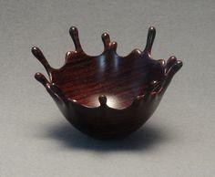 Cocobolo Wood Splash Bowl 2 by DannyKamerath on Etsy