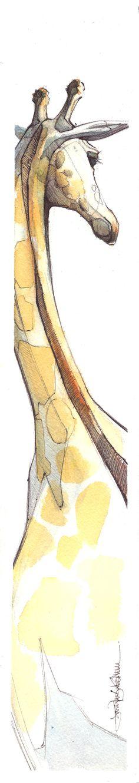 Giraffe = Jerapah by Jennifer Kraska Art And Illustration, Illustrations, Giraffe Illustration, Animal Drawings, Art Drawings, Pintura Graffiti, Wow Art, Chiaroscuro, Painting & Drawing