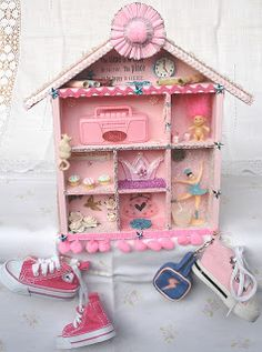 "Pink Shadow Box ""Memory Box"""