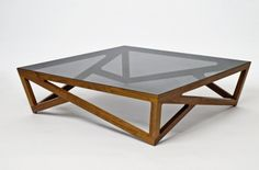 Wooden Coffee Table With Glass Top Glass Cube Coffee Table Handmade Contemporary Furniture Rustic Meets Elegant In This Spherical Glass Wood Coffee Table, Coffe Table, Coffee Table Design, Wood Glass, Modern Coffee Tables, Glass Table, Cut Glass, Center Table Living Room, Contemporary Furniture