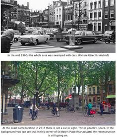Mariaplaats, Utrecht, NL before and after restoration to a complete street. Click image to tweet and visit the slowottawa.ca boards >> http://www.pinterest.com/slowottawa