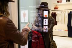ebay and rebecca minkoff connected store shows future of shopping using RFID technology the 'connected walls' recognizes all items in the room and identifies other sizes and colors that are available to the consumer.