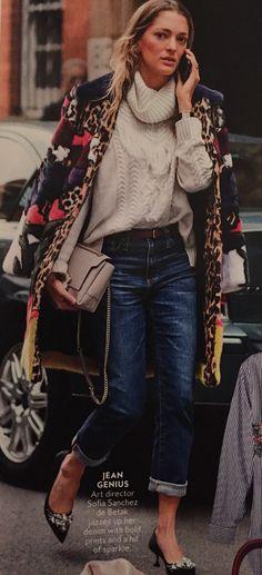 Leopard coat - Sofia Sanchez de Betak - InStyle Magazine - January 2017
