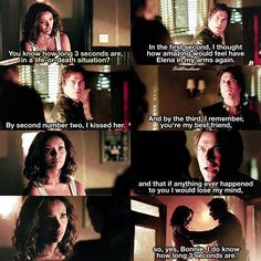 "#TVD 7x01 ""Day One of Twenty-Two Thousand, Give or Take"" - Bonnie and Damon"