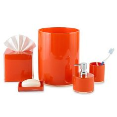 jcp home™ Bright Acrylic Bath Collection - jcpenney PINK set + ORANGE set for the kids bathroom