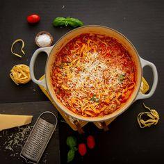 One pot pasta med kjøttsaus og chorizo One Pot Pasta, Chorizo, Ethnic Recipes, Food, Essen, Meals, Yemek, Eten