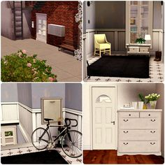 Urban Living by Simberry / Hall / Download / Sims 3 / Apartment Sims 3 Apartment, Free Sims, Apartments, Loft, Urban, Bed, House, Furniture, Home Decor