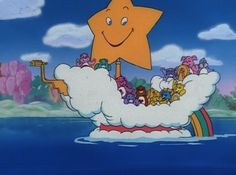 Image of The Care Bears Movie for fans of Animated Movies. 1985 animated movie voiced by Mickey Rooney. Cartoon Tv Shows, Cartoon Icons, Cute Cartoon, Vintage Cartoons, 80 Cartoons, Cartoon Wallpaper, Care Bears Movie, Care Bear Costumes, Care Bears Vintage