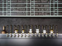 A bar design in Copenhagen in a fresh turquoise palette
