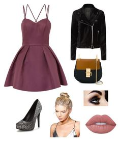 """Girls night out"" by whalebuddies ❤ liked on Polyvore featuring Chi Chi, Chloé, Boohoo, Lime Crime and Paige Denim"