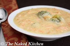 Broccoli cheese soup - we made this for dinner and it was so yummy...and healthy!