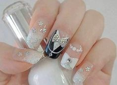 Nail Design Mariage pour ongles longs