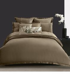 Donna Karan Modern Classics Queen TRUFFLE Duvet  $500 MSRP  NEW Brown Chocolate #DonnaKaran
