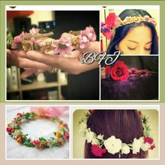 Inspiring wreaths/ halos by Bridal Flower Jewellery and other sources