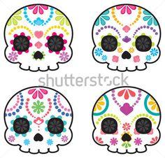 calaveras mexicanas bordadas patron - Buscar con Google