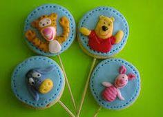 6 Pooh and Friends Cookie LollipopsSugar by YummyYummySugarShop