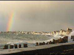 Grandes marées à Saint Malo