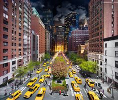 New York City's Day and Night Combined - Photography by Stephen Wilkes http://www.designfloat.com/blog/2011/09/22/new-york-day-night-photography-stephen-wilkes/