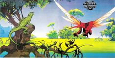 "Osibisa ""Woyaya"" Open Gatefold Album Cover Art (1971) Patrick Nagel, Lp Cover, Cover Art, Tales From Topographic Oceans, Iconic Album Covers, Roger Dean, Dragon Dreaming, Album Cover Design, Magic Realism"