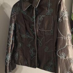 Gray and aqua jacket Gray and aqua jacket by Bianco Nygard long sleeves Bianca nygard Jackets & Coats Puffers