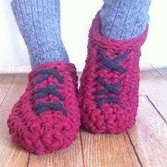 Zapatillas mujer hechas en ganchillo con tejido por TRAPIQueen