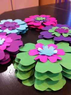 Three Tiered Paper Flowers on Etsy, $20.00