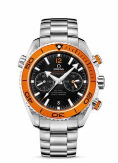 Omega Seamaster Planet Ocean with Orange Bezel. Chronometer.