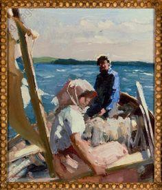 """""""Sketch for pa havet – on the ocean"""", 1880. Edelfelt, Albert. 1854–1905."""
