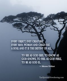 Spiritual Quotes- Everyone has a little piece of God in them. All we need to do is be still and allow.