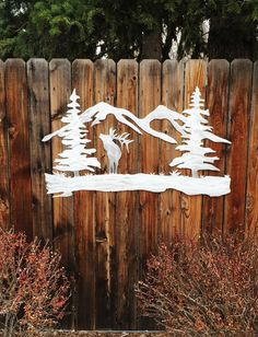 Hello, and thanks for your interest in my forest elk and mountain metal artwork. The dimensions for the listed item is 24 tall by 36 wide. This metal artwork is made by hand with aircraft aluminum that will not rust or tarnish over time. Looks great inside on walls and tile, or outside on the front of the house or fence.  Price 155.00  Bear Mountain Metal Art is based out of Fort Collins Colorado and operated by artist Bobby Singleton. Artwork is made by drawing the design out on a sheet of…