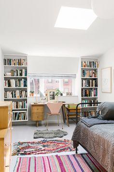 combo office / guest room | Rachel Bedard Fort Greene House Tour