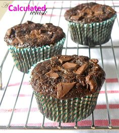Double Chocolate Zucchini Muffins (gf, refined sugar free, paleo friendly) | Cooked Well